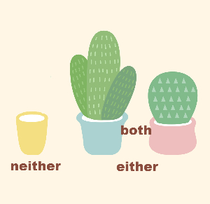 Разница между Either, Neither и Both