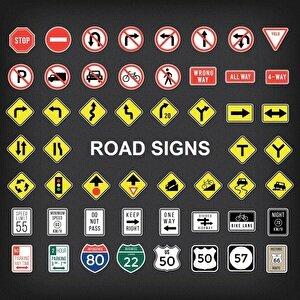 Дорожные знаки на английском в США и Великобритании